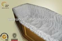 latest technology 100% cotton coffin interior