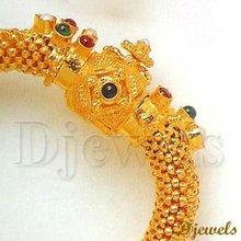 22K Gold Kundan Bangles, Jaipur Kundan Bangles, Kundan Jewellery