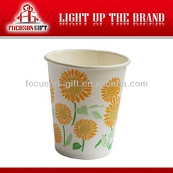 Flower Printing Various Style recycled single wall paper coffee cups