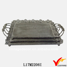 Hand craft shabby tray metal for wedding and holiday