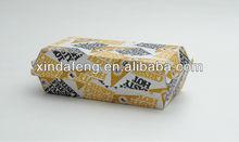 corrugated rectangle paper snack box/kraft Hot Dog Boxes