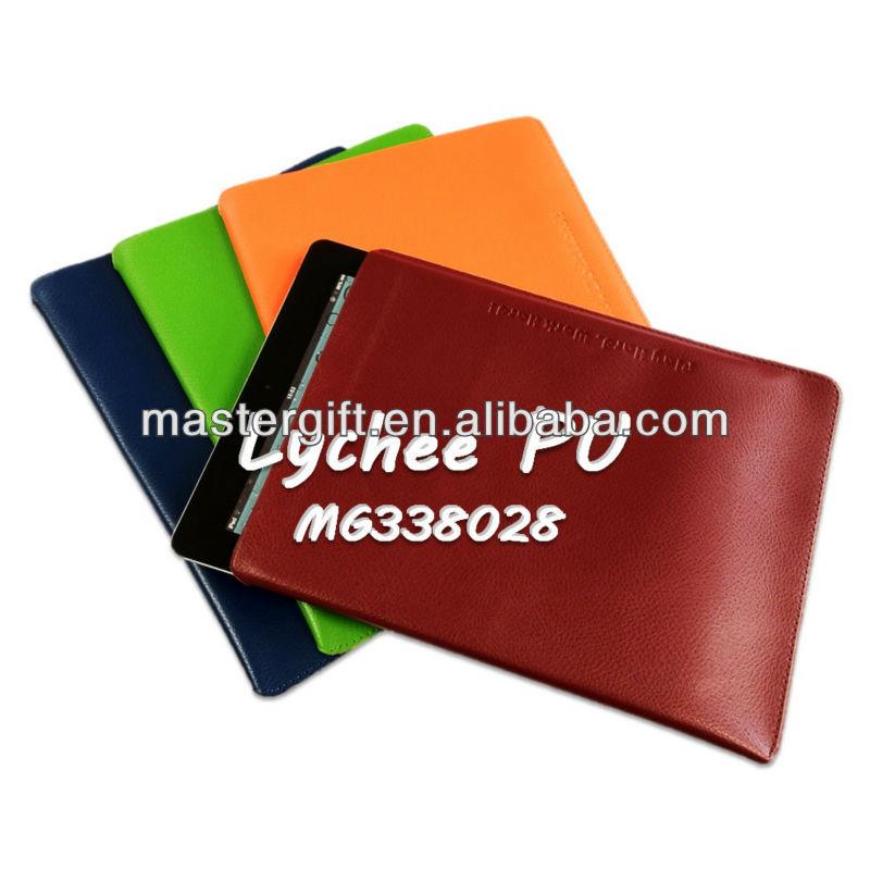 Renkli şık yumuşak pu deri logolu ipad kapağı, ipad mini kol, tablet halinde
