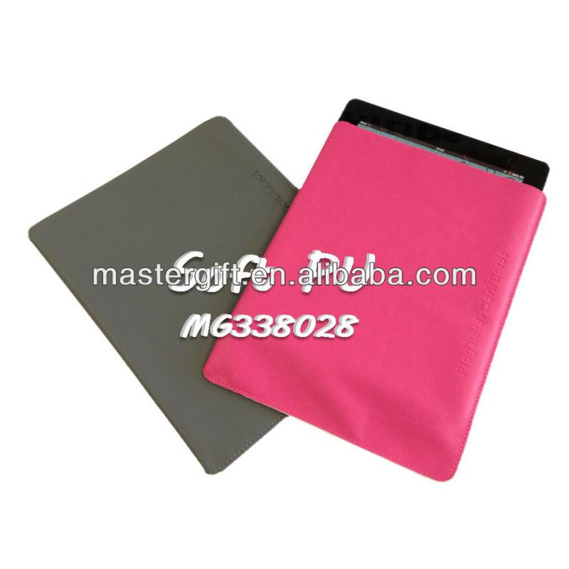 Colorido estilo suave de la PU de cuero con logo para el iPad cubierta, Para el iPad Mini de manga, Caja de la tableta
