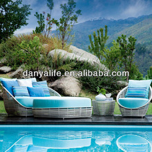 DYSF-D4302 Danyalife New Aluminum Synthesis Wicker Open Air Sofa