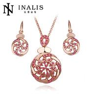 2014 indian style ruby diamond bridal jewelry set lkn18krgps140