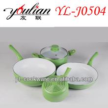 5PCS Aluminum Ceramic Cookware Set