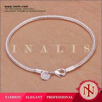 2014 3mm snake silver bracelets for women H187
