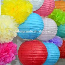 MOQ 50pcs Round Paper Lantern for Home Wedding Decoration Hanging Paper Lanterns