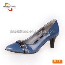 Blue pointed toe women mature high heels