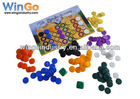 plastic tokens/board game piece