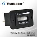 carga de la batería indicador de descarga 12v 24v 36v 48v 72v para el coche de golf carrito de vehículos de alta calidad