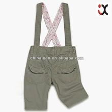 new arrival kids colored straight jeans plain child short jeans (JXK31877)