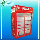 650L commercial supermarket open showcase vertical 2 door display refrigerator