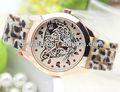 colorido señora de leopardo de impresión reloj reloj deportivo coss