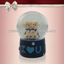 2014 popular wedding snow globe