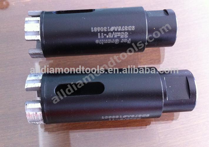 M14 Thread Brazed Dry Diamond Core Drill Bits for Hard Rock