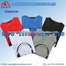Promotional combed cotton design men 2012 latest men's t shirts