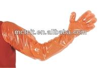 Disposable LDPE/HDPE/PE long sleeve plastic glove