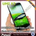 "5"" umi x2 mkt6589t android. 4.2 quad core techno téléphone mobile"