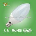 Fournisseur de la chine e14 led ampoule en plastique en aluminium c30ap 3.5/4/5/6w 2 tuv-gs ans de garantie avec ce rohs nouveau produit chaud pour 2015