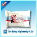 Natural removedor de maquillaje toallitas húmedas y de las aerolíneas toallitas húmedas