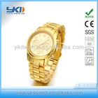 classic fashion watch, plating gold watch, alloy bussiness watch