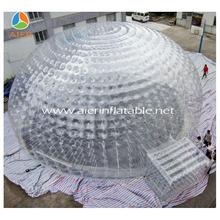 França estilo claro gramado inflável barraca / tenda bolha para exposição