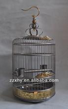 Golden Decoration Metal Bird Cages Antique Pet Parrot House Factory Directly Wholesale