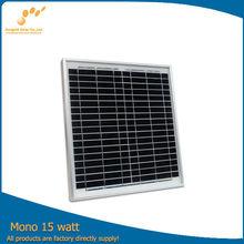 A-grade cell 15W mono small size solar panels
