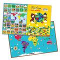 E1010 2014 caliente de la marca nueva para los niños del bebé y niño mapa mundo creativo puzzles/rompecabezas magnético de aprendizaje jugueteseducativos