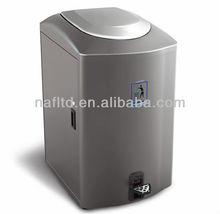 outdoor garden& park dustbin cleaning stainless steel dustbin clear plastic foot petal garden dustbin