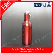 lightweight wine red color aluminum coke bottle 430ml