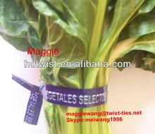 PET pre-cut paper vegetable ties/water-proof vegtide