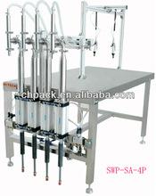 high precision semi automatic filling machine for juice,jam,paste,cream