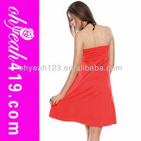 2014 Wholesale sexy red hot sale beach cover multi wear scarf dress