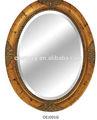 الذهب العتيقة البيضاوي إطار المرآة خشبية لتزيين الحائط