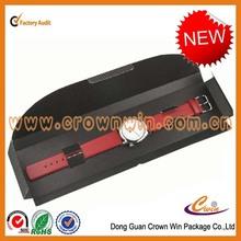 Cheap folding flat black box,packaging flat black box for watch