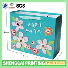 Fashion color gift bag OEM manufacture
