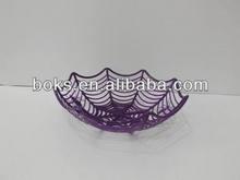 popular plastic Halloween spider web fruit basket