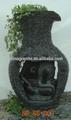 talladas a mano de gran jarrón de mármol fuente
