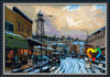 Sweet after snow painting DIY painting by number kits decorative oil painting DH6090004 wholesale canvas painting