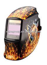 OEM sexy girl decal large view area laser oxyfuel gas plasma arc welding auto darkening welding mask