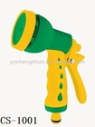 Hot sell CS-1001 8functions plastic spray hose nozzle for garden and lawn