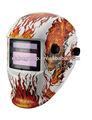 nuevo nuevo producto del precio bajo ANSI GS CE de color rojo llama de cráneo máscara de soldadura