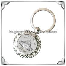 metal souvenir coin key ring circle