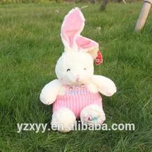 Prize claw plush toy overalls rabbit,wholesale giant rabbit