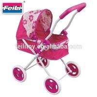 Feili hot girl gift hand push pram toy car wheels stroller for dolls