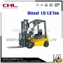 1 Ton Diesel Forklift Truck With Imported ISUZU Diesel Engine Forklift
