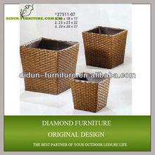plastic rattan garden planter design