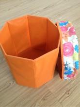 fodable non-woven storage box /seat storage stool